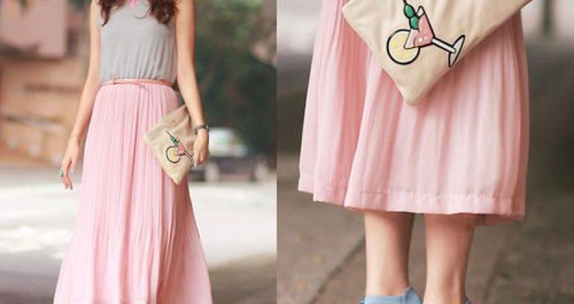 เสื้อผ้าสีชมพูสำหรับสาวหวาน